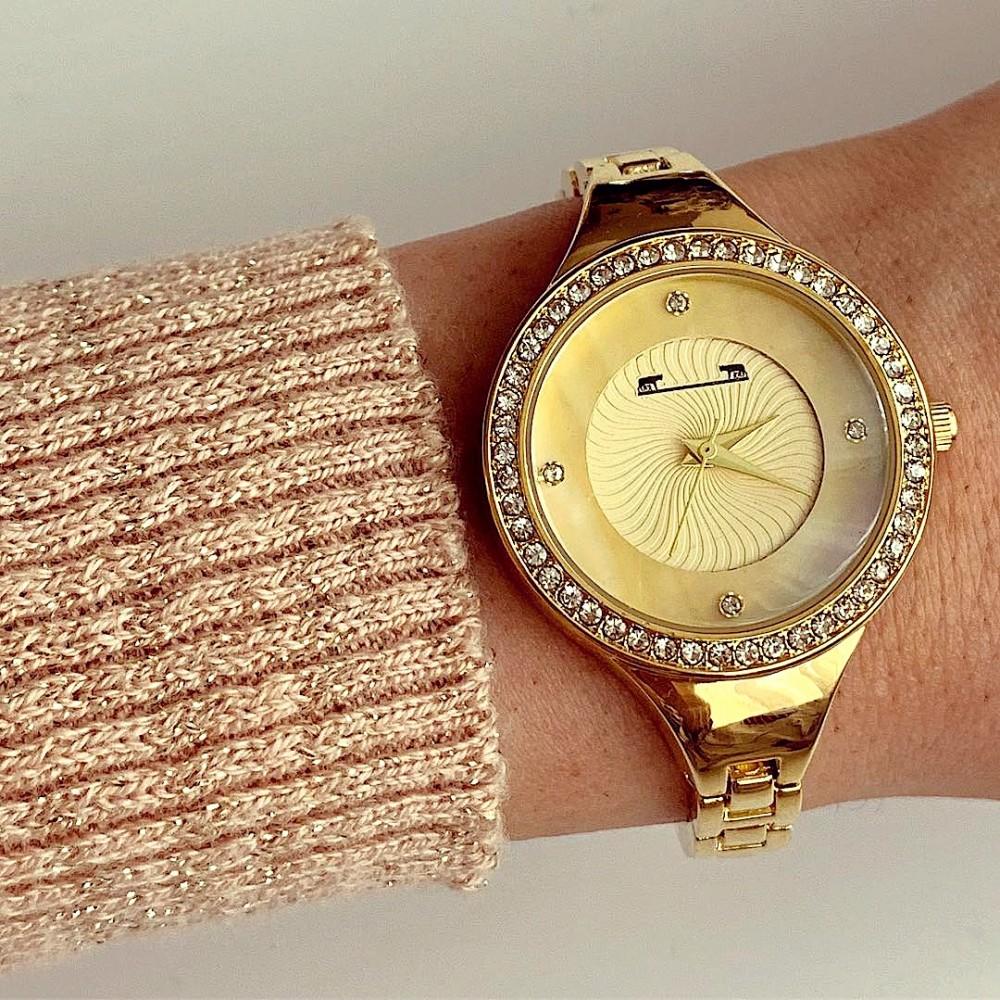 Ceas dama MATTEO FERARI metalic auriu cu cadran sidefat