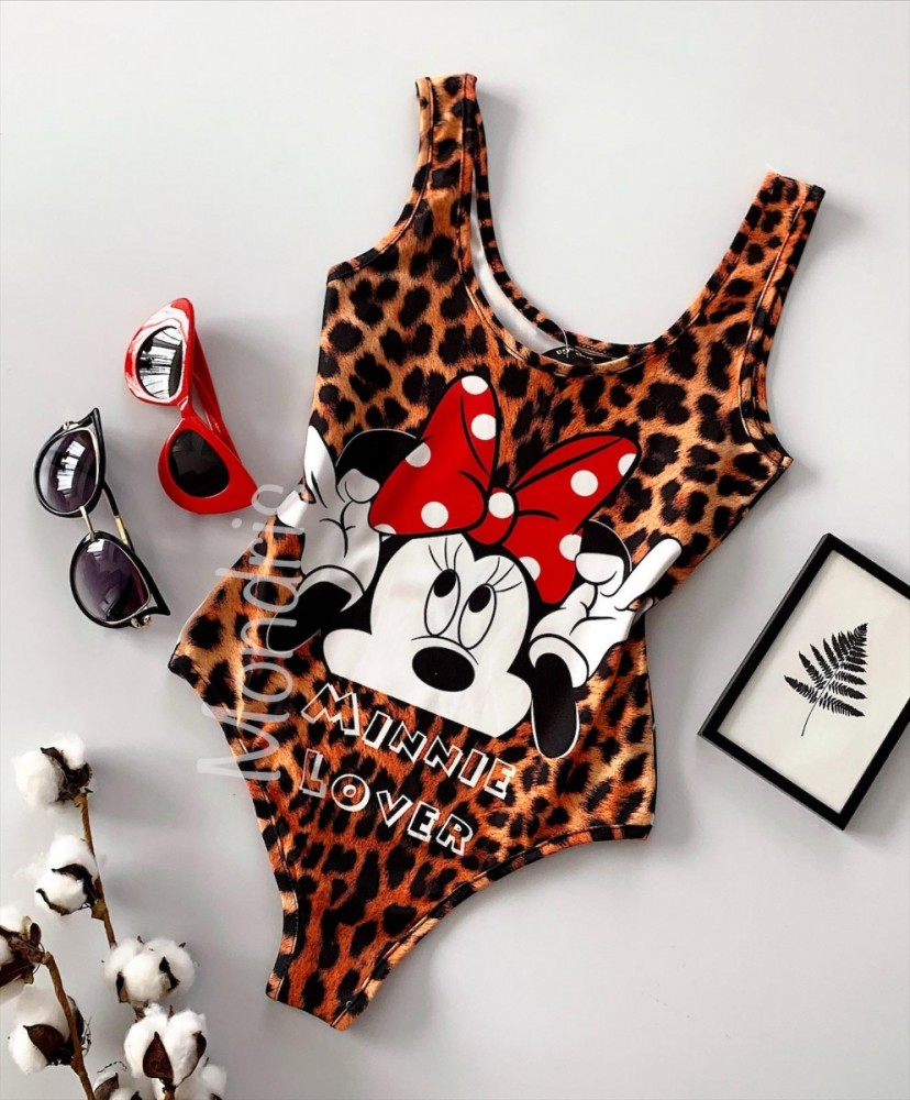 Body dama ieftin animal print cu imprimeu MM Lover