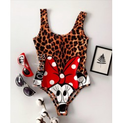 Body dama ieftin animal print cu imprimeu MM Lover