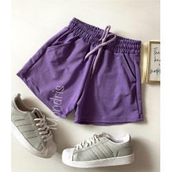 Pantaloni dama scurti sport mov simpli