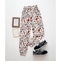 Pantaloni dama casual colorati tip jogger cu imprimeu Print
