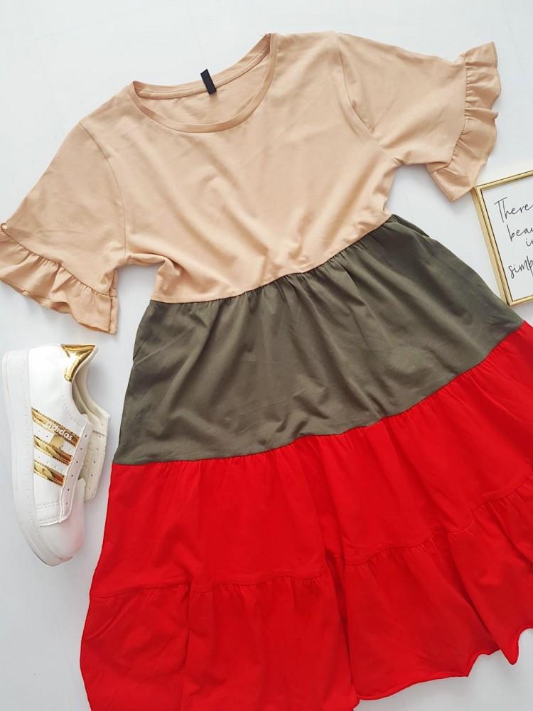Rochie de vara scurta lejera crem in 3 culori